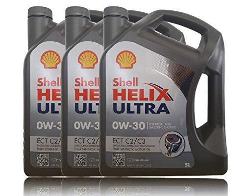 3x5 Liter Shell Helix Ultra ECT C2 / C3 0W-30 Motoröl, 5 Liter