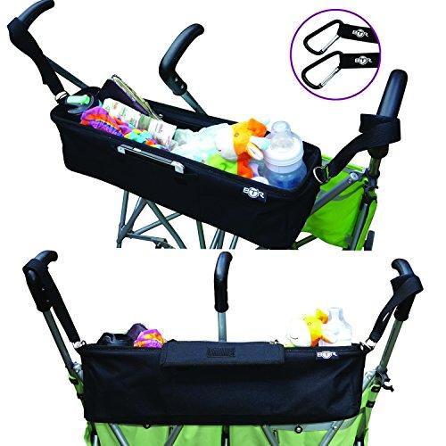 Kinderwagen-Organiser für Zwillilngskinderwagen - 6