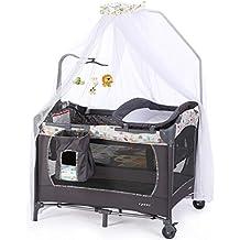Mesa cambiador para bebés, Cuna portátil gris, Cuna plegable para niños, Coctelera removible