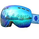 Snowledge Gafas de Esquí - Sin Marco Cambiante, de Doble Lente Esférica, Contra Arañazos y Anti - Niebla, Para Hombres y Mujeres de Esquí / Snowboard - 100% Contra UV
