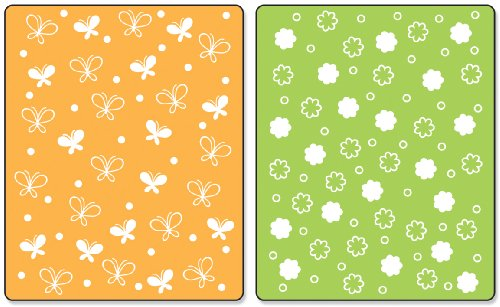 Sizzix Textured Impressions Prägefolder 2/Pk, Schmetterlinge & Blumen Set by Stephanie Barnard (Prägefolder-set)