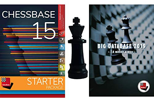 ChessBase 15 - Starter Package: ChessBase 15 Chess Database Management  Software Program bundled with Big Database 2019 & ChessCentral's Chess King
