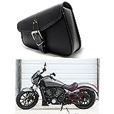 1 Stück Motorrad Satteltaschen Leder PU Wasserdichte Links Side Gepäck Werkzeugtasche Schwarz
