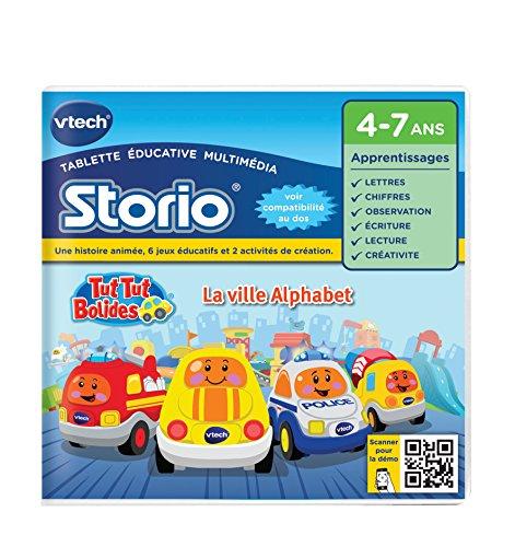 Vtech - 232505 - Storio 2 et générations suivantes - Jeu éducatif - Tut Tut Bolides - La ville alphabet