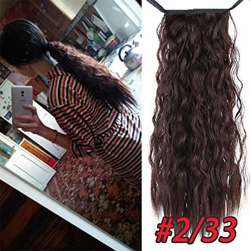 Long Afro Curly Drawstring Pferdeschwanz Synthetische Haarteil Pferdeschwanz Haarteil Für Frauen Gefälschte Brötchen Clip In Haarverlängerung 2.33 22Inches -