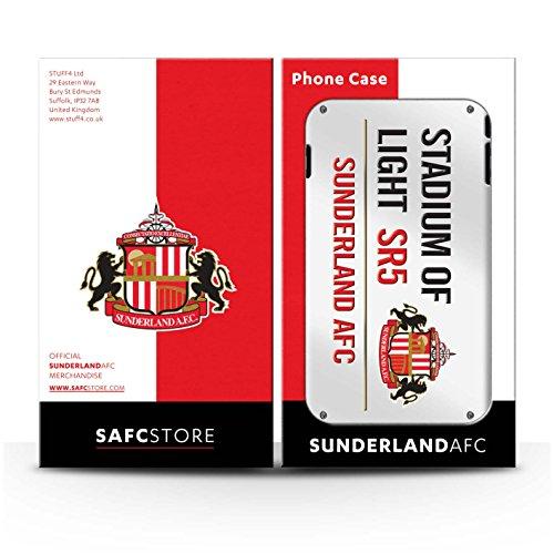 Offiziell Sunderland AFC Hülle / Case für Apple iPhone 7 / Schwarz/Gold Muster / SAFC Stadium of Light Zeichen Kollektion Weiß/Rot