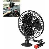 Útil Mini ventilador de refrigeración aire frío negro para coche Ventosa de Succión de Camiones