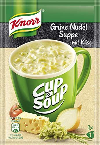 Knorr Cup a Soup Grüne Nudel mit Käse Instant Suppe 1 Tasse, 16er Pack (16 x 40 g)