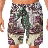 Photo de goodsale2019 Pantalons de Plage pour Hommes de Bain drôles pour Hommes de mer Seahorse in Crown Pantalons de Jogging à séchage Rapide par goodsale2019