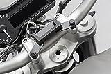 SW-Motech GPS.07.646.11301/B Navi-Halter am Lenker, Schwarz, BMW R1200R, Triumph Thunderbird Storm/Street Scrambler
