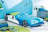 Autobett inkl.Rollrost + Matratze 90 * 200 cm Kinderbett Autorennbett Rennautobett Jugendbett Jugendliege Bettliege Bett Einzelbett Kinderzimmer