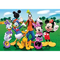 Disney Mickey Mouse Minnie Goofy Donald Daisy Pluto Edible Cake Topper Frosting 1/4 Sheet Birthday Party by ex