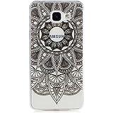 KSHOP Etui cas TPU silicone pour Samsung Galaxy A3(2016)A310 Coque Case Cover Housse de protection Shell avec mince motif d'impression - Sunflower Indian Black