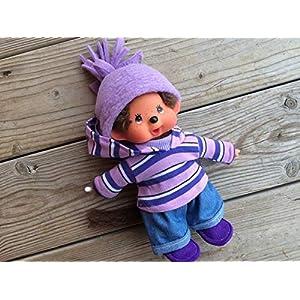 Puppenkleidung handmade für MONCHICHI Gr. 20 cm MONCHHICHI Bekleidung Kapuzenshirt Hoodie Winterset mit JEANS + Schuhe Kleidung Puppenkleidung