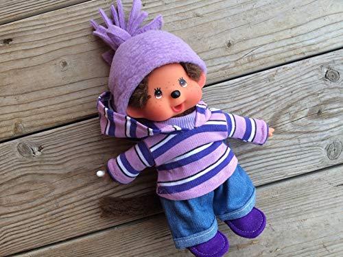 Puppenkleidung handmade für MONCHICHI Gr. 20 cm MONCHHICHI Bekleidung Kapuzenshirt Hoodie Winterset mit JEANS + Schuhe Kleidung Puppenkleidung -