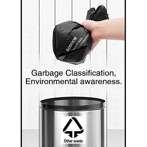 Aodoor Kotbeutel 100% Biologisch Abbaubar, Hundekotbeutel mit Beutelspender Gassibeutel / Hundebeutel Biologisch Abbaubar Umweltfreundlich Kompostierbar 11 Rollen - 4