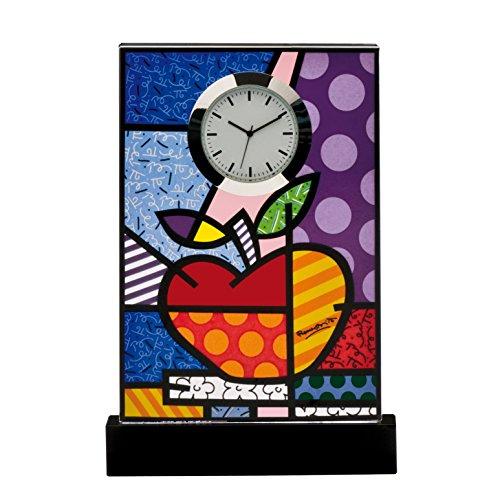 Goebel Big Apple, Romero Britto, Tischuhr, Uhr, Kaminuhr, Dekoration, Glas, 66452161