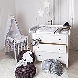 PuckDaddy XXL Cambiador superior (108 cm) para todas las cómodas Hemnes de IKEA
