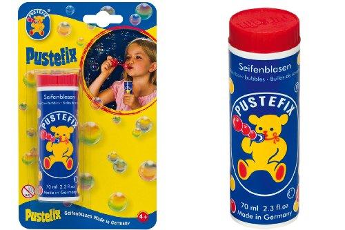 Pustefix Seifenblasen I 70 ml Großpackung I Bunte Bubbles Made in Germany I Seifenblasen für Hochzeit, Kindergeburtstag, Standesamt, Polterabend I Große Seifenblasen für Kinder & Erwachsene