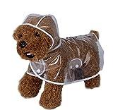 Haustier Hund Regenmantel Poncho, Welpen Haustier leichte wasserdichte transparente Kunststoff Poncho Regenmantel für kleine oder mittelgroße Hunde (S M L)