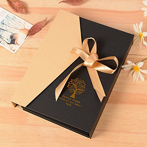Saibang personal DIY photo album scrapbook, retro photo album, anniversario di matrimonio libro degli ospiti, Travel Book Tree