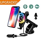 #5: Fast Wireless Car Charger,Car Mount Gravity Linkage Air Vent Charging for Samsung Galaxy Note 8/5,S8 Plus,S7,S6 Edge+,IPhone 8/8 Plus, iPhone X Accessories Compatible All Qi-Enabled Devices By House Of Quirk