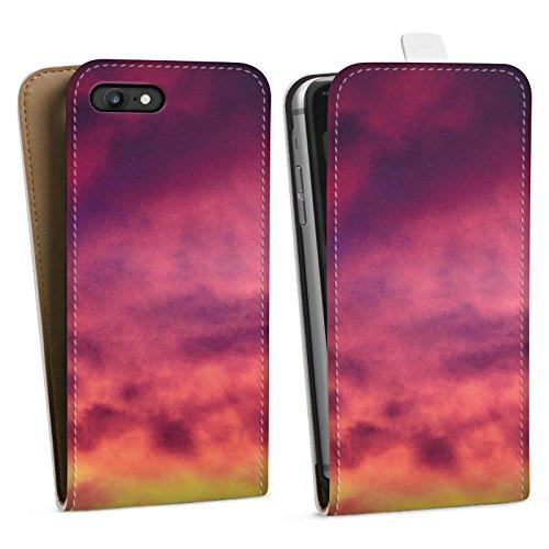Apple iPhone X Silikon Hülle Case Schutzhülle Lila Wolken Himmel Downflip Tasche weiß