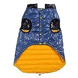 Anorak Pet Skijacke Hunde Bewegung Kleidung Mantel Jumpsuit Jacken für große Hunde Haustier Winter 4 Größe Rot/Gelb