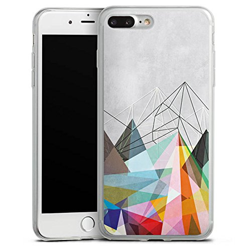 Apple iPhone 8 Slim Case Silikon Hülle Schutzhülle Dreiecke Muster Design Silikon Slim Case transparent