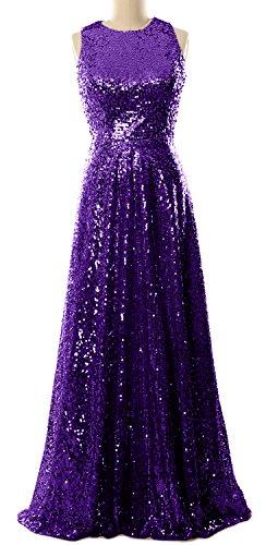 MACloth - Robe - Trapèze - Sans Manche - Femme Violet