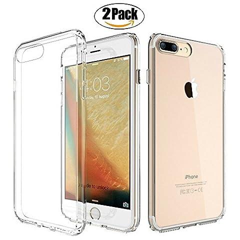 2 Coque Iphone 6/6s ElKing Ultra Mince en Silicone Tpu Clair Transparente Housse Protection Parfaite Adhérence Anti-choc