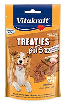 VITAKRAFT Treaties Bits Poulet/Bacon Friandise pour Chien 120 g