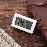 Termómetro Higrómetro Digital Interior, Medidor de Humedad y Temperatura con Pantalla Táctil LCD de Retroiluminación.