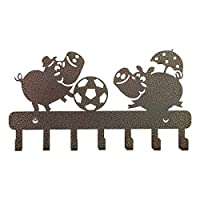 This metal key holder is treat to all Nature Lovers and can be used to hang your cloths or keys as per ones need. It is made from steel and is Black powder coated so as to resist corrosion. Dimensions: 27 CM X 15.5 CM X 2 CM Material: Steel Color: Bl...