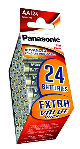 Panasonic Pro Power Alkali-Batterie (Mignon AA, LR6, 24er Pack)