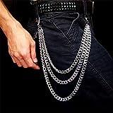 ZPYHJS Wallet Chain Men, Hip-Hop-Punk-Hose Geldbörse Schlüsselbund Motorradjeans Gothic Rock