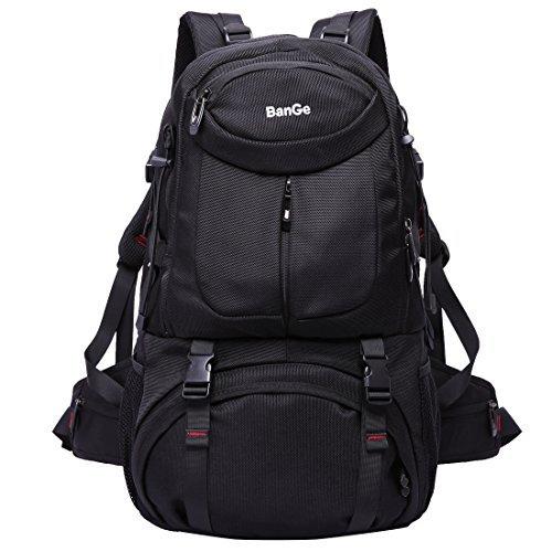 45L de Alta Capacidad Resistente al Agua de Viaje al Aire Libre Camping Ciclismo Multifunción Mochila Laptop Computer Bag No.2227 (Negro)