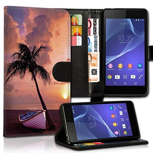 Book Style Wiko Pulp Premium PU-Leder Tasche Flip Brieftasche Handy Hülle Kartenfächer mit Standfunktion für Wiko Pulp - Design Flip MVX183