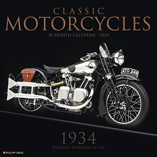 Classic Motorcycles 2020 Wall Calendar