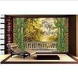Custom 3D estereoscópico estilo europeo bosque de la selva murales 3d papel tapiz sala de estar papel tapiz de lujo papel de parede 3d foto-400x280cm
