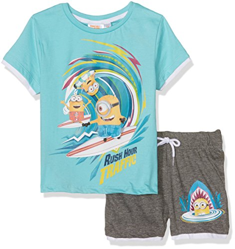 Universal Jungen Sportswear-Set Minions Blau, 2-3 Jahre (Pjs 2 Pyjamas Jungen Stück)