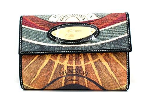 Gattinoni Portafogli Donna Wallet Placca Oro Cm 15x11x2 Multicolore