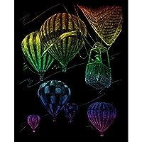 Royal & Langnickel - Lámina para grabado (20,3 x 25,4 cm), diseño de globos aerostáticos, multicolor