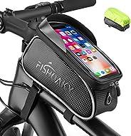 FISHOAKY Borsa Telaio Bici, Impermeabile Borsa da Manubrio per Biciclette, Touch Scree Porta Telefono MTB Bors