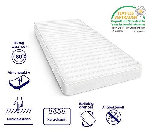 Mister Sandman atmungsaktive 7-Zonen-Kaltschaummatratze für erholsamen Schlaf – Matratze mit hochwertigem Mikrofaser, Härtegrad H2&H3, Höhe 15cm. H2 90 x 190 cm