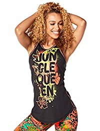 Zumba Women's Queen of the Jungle High Neck Tank Tops