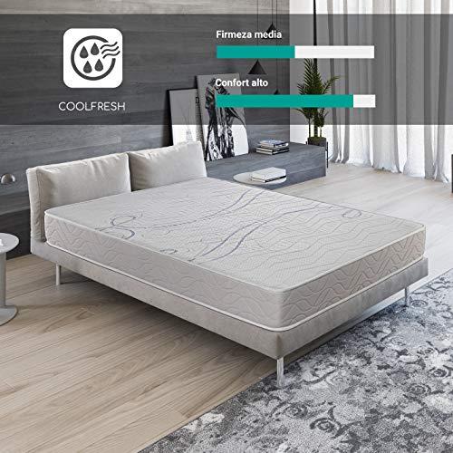 ROYAL SLEEP Colchón viscoelástico 105x190 firmeza Media, adaptabilidad y Calidad Alta, Altura 21m - Colchones Xfresh Premium