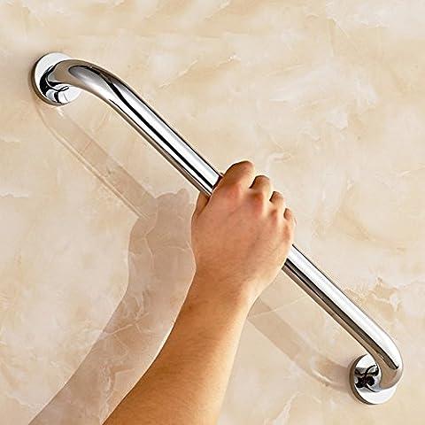 Ungfu Mall 1pc in acciaio inox da bagno Grab Bar Sicurezza Impugnatura portasciugamani mensola, Silver, 40 cm