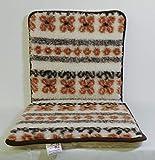 Gesundheitsapostel Klapp-Sitzkissen, Schurwolle, Mexiko, 40 x 80 x 2.5 cm
