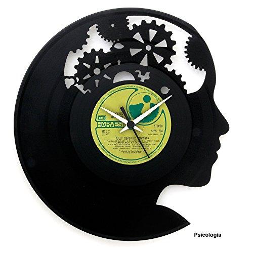 Regalo idea Psicología regalo graduación psicología idea regalo estudio psicólogo Reloj de vinilo original hecho en Italia Vinilo